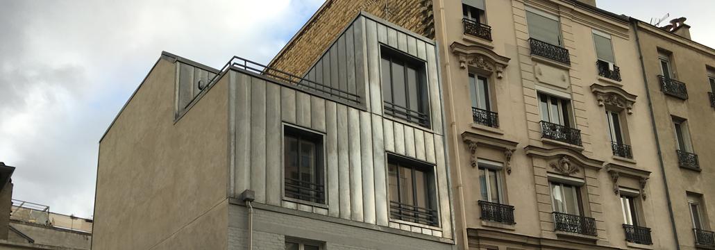 surelevation rue des suisses paris tisco. Black Bedroom Furniture Sets. Home Design Ideas